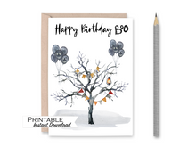 Load image into Gallery viewer, October Birthday, Birthday Card, Happy Birthday Boo Card, Halloween Cards, Printable Card