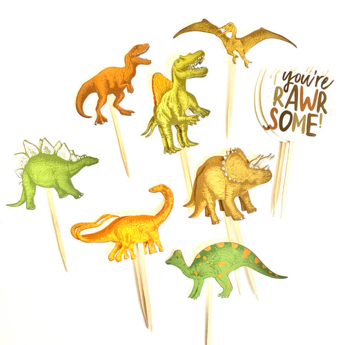 Dinosaur Cupcake Toppers. Dinosaur Party. Dinosaur Party Decor. Dinosaur Sticker Set. Dino Birthday.