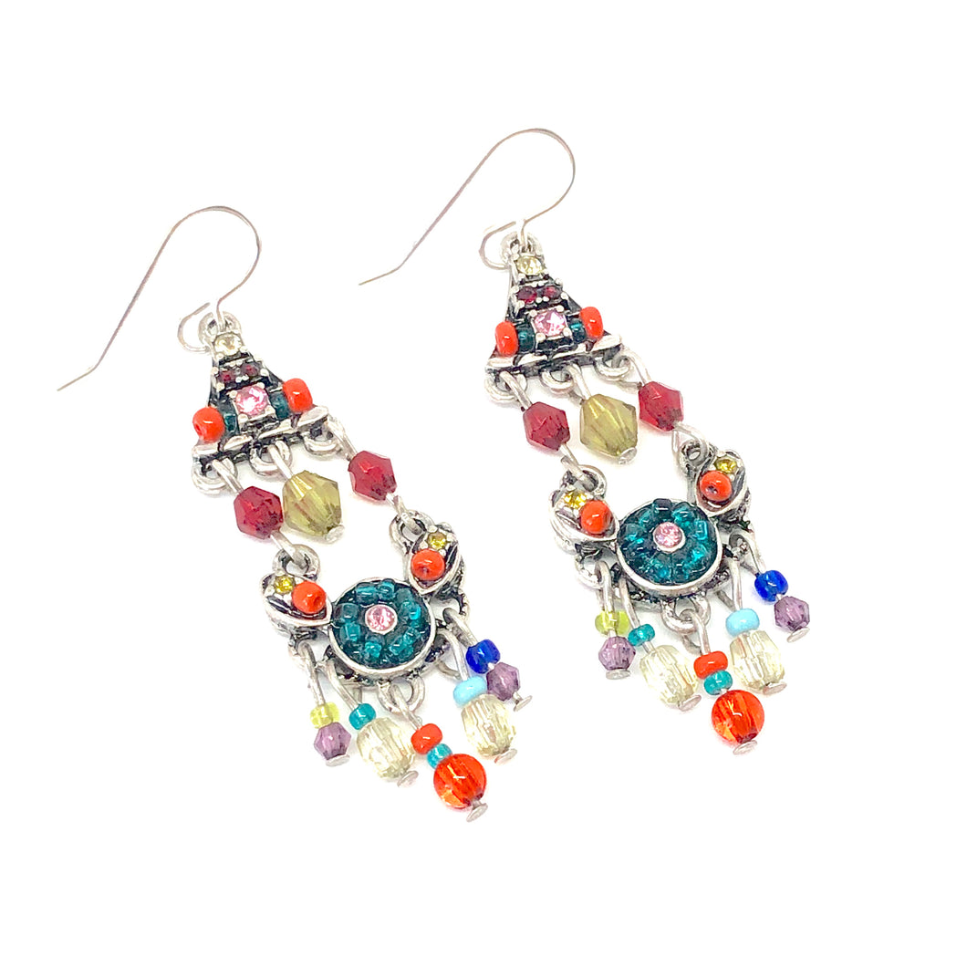 Colorful Chandelier Earrings. Colorful Boho Earrings. Beaded Dangle Earrings. Boho Vibes. Gifts for Women.