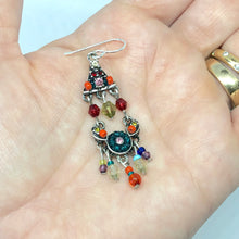Load image into Gallery viewer, Colorful Chandelier Earrings. Colorful Boho Earrings. Beaded Dangle Earrings. Boho Vibes. Gifts for Women.