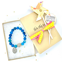 Load image into Gallery viewer, Blue Agate Bracelet, Choose Joy Bracelet, Improve Concentration
