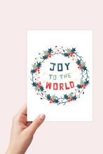 Load image into Gallery viewer, Joy to the World, Printable Card, Scandinavian Christmas