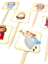 Load image into Gallery viewer, Nativity Scene Cupcake Toppers. Christmas Party Decor. Baby Jesus Cupcakes. Christmas Cupcakes.
