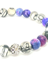 Load image into Gallery viewer, StarCityCo - handmade Purple Agate and Jasper Mala bracelet