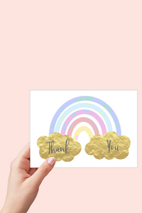 Thank you Card, Rainbow Card, Birthday Thank You Cards, Printable Card