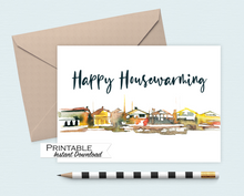 Load image into Gallery viewer, Happy Housewarming Card, New Home Card, Printable Card