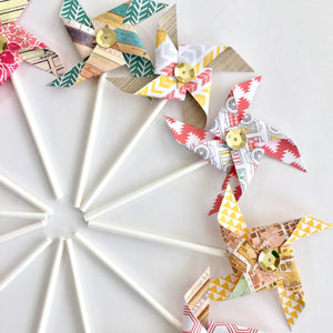 Aztec in the City Sequined Pinwheels. Pinwheel Cupcake Toppers. Paper Pinwheels. Pinwheel Birthday. Summer Party decorations. Pinwheel Party