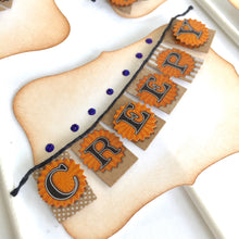 Load image into Gallery viewer, Halloween Banner Cake Toppers, Halloween Party Decor, Set of 4