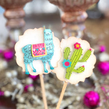 Load image into Gallery viewer, Llama Cupcake Toppers, Llama Birthday, Llama Party