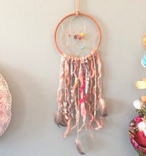 Load image into Gallery viewer, Near + Dear to my Heart Owl Bohemian Dreamcatcher Wall Hanging
