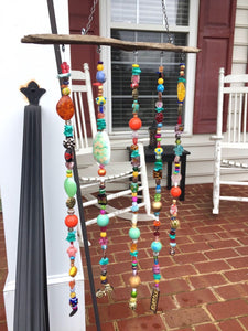 Boho Beaded Hanging Art - Happy Girl