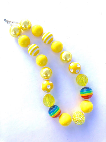 Gold at the End of the Rainbow Girls Colorful Bubblegum Necklace