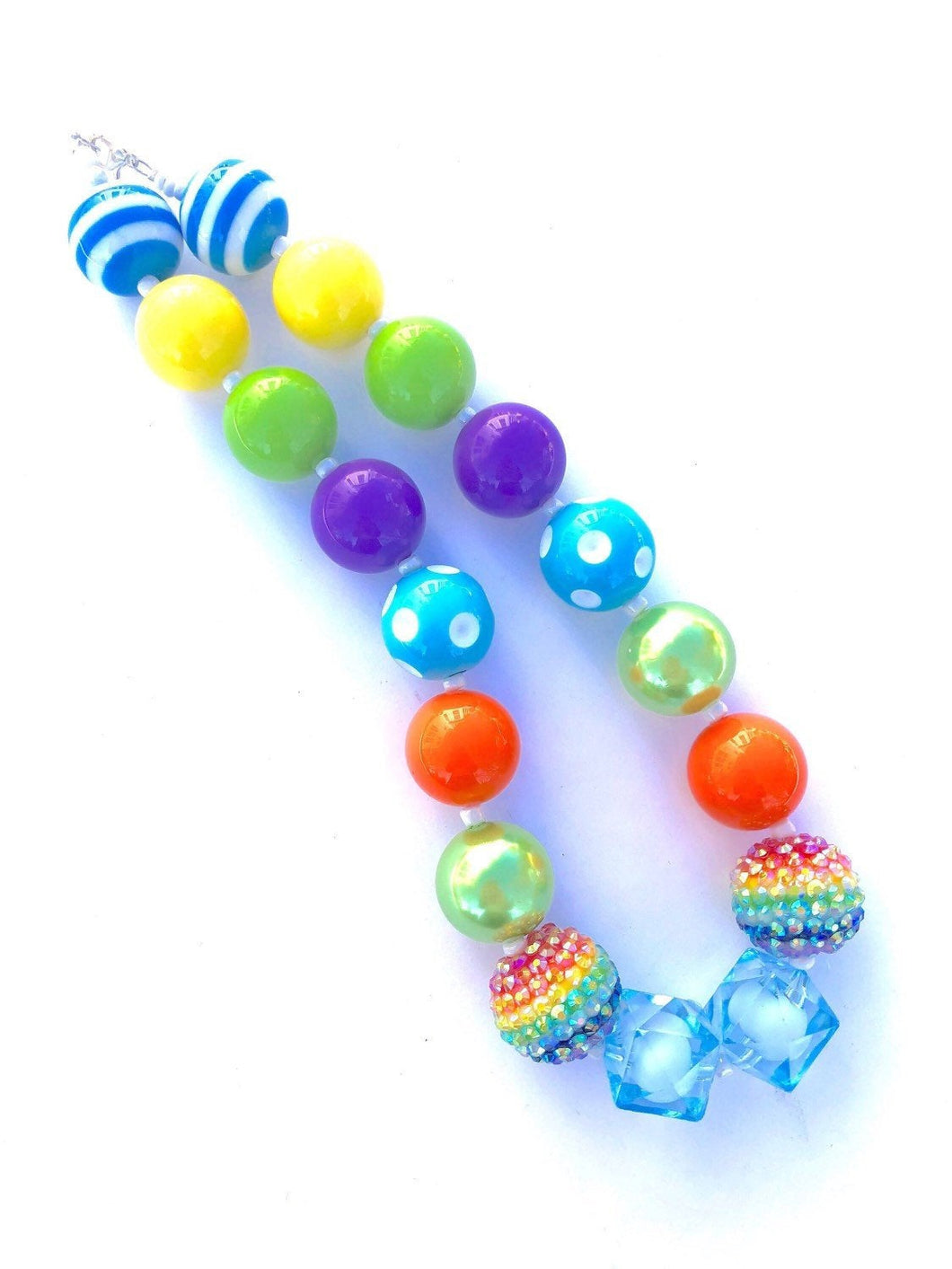 Rainbow Girls Colorful Bubblegum Necklace