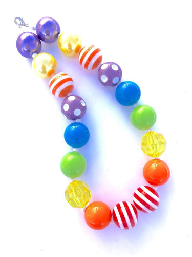 ROY G BIV Girls Colorful Bubblegum Necklaces