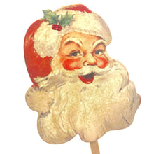 Load image into Gallery viewer, Vintage Christmas, Santa Cupcake Toppers