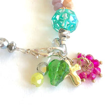 Load image into Gallery viewer, Beaded Boho Charm Bracelet. One of a Kind Bracelet. Cross Bracelet.