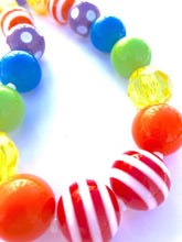 Load image into Gallery viewer, ROY G BIV Girls Colorful Bubblegum Necklaces
