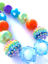 Load image into Gallery viewer, Rainbow Girls Colorful Bubblegum Necklace