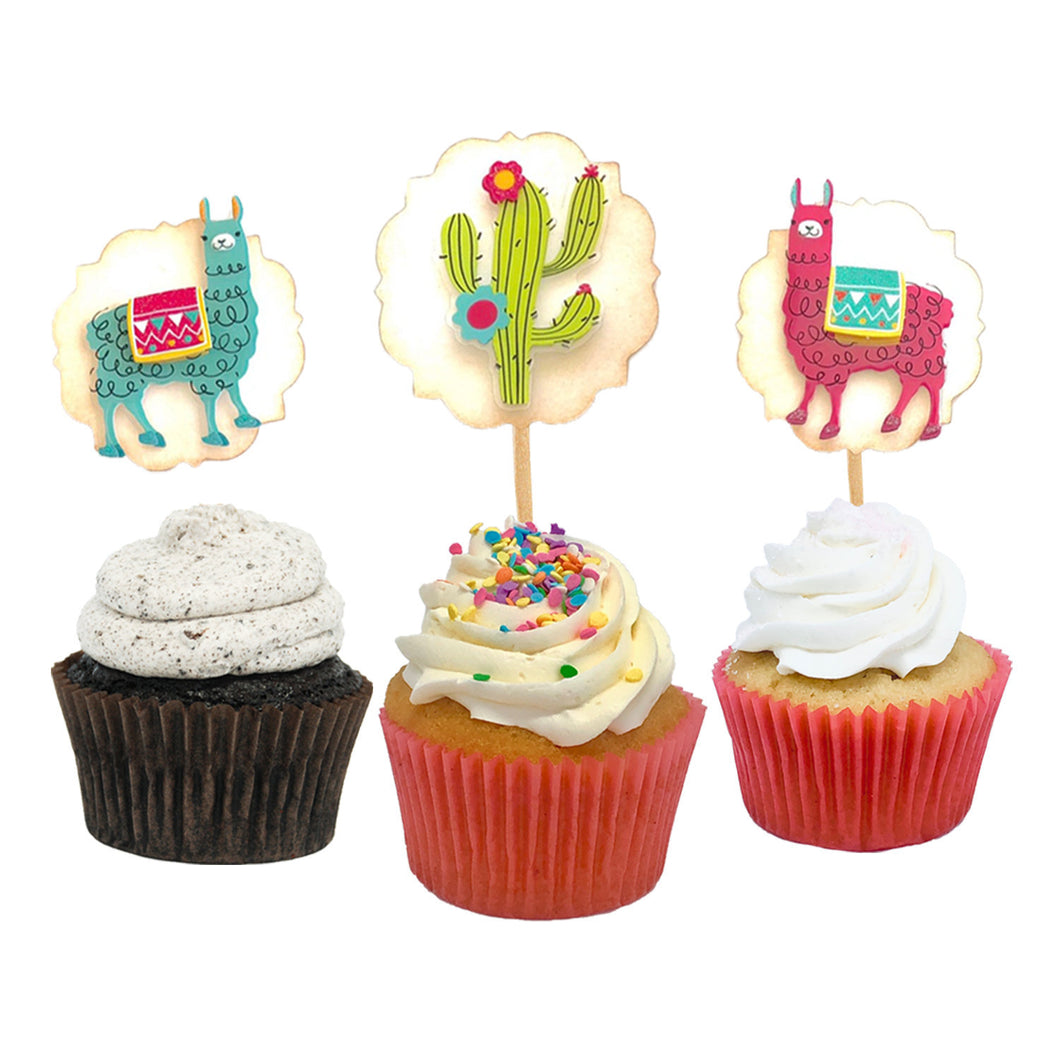 Llama Cupcake Toppers. Llama Birthday Party. Mama Llama Drama. Cactus + Flowers. 12 Food Picks. Llama Party Supplies.