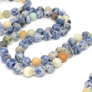 7 Chakras Necklace, Lotus Necklace, Sodalite Necklace, Agate, 108 Bead Mala