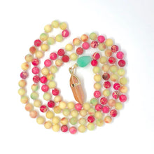 Load image into Gallery viewer, Imperial Jasper, Quartzite, 108 Bead Mala Necklace, Pink and Green Gemstone Necklace