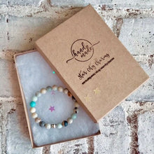 Load image into Gallery viewer, Amazonite + Crystal Charm Bracelet. Healing Large Bead Bracelet. Hope Stone. Chakra Balance.