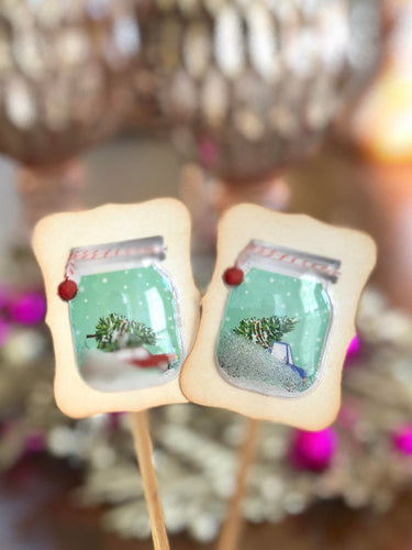 Christmas Vacation Decor. Station Wagon with a Christmas Tree on Top. Bell Jars Cupcake Toppers. Christmas Food Picks.