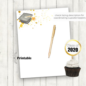Graduation Stationary, Graduation 2020, Graduation Cap, Graduation Printable, Thank you Notes, Congratulations Grad, Class of 2020