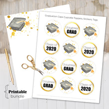 Load image into Gallery viewer, Graduation Stationary, Graduation 2020, Graduation Cap, Graduation Printable, Thank you Notes, Congratulations Grad, Class of 2020