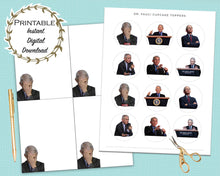 Load image into Gallery viewer, Dr. Fauci Bundle, Fauci Facepalm, Fauci Note Cards, Fauci Cupcake Toppers, Printable Bundle, Political Funny, Election 2020, Fauci Fan Club