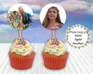 Tiger King Bundle, Tiger King Stationary, Tiger King Cupcake Toppers, Printables, Joe Exotic, Joe Exotic Stationary, White Trash Bash