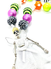 Load image into Gallery viewer, Skeleton Halloween Bubblegum Necklace, Little Girl Necklace