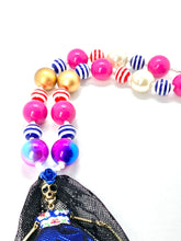 Load image into Gallery viewer, Skeleton Bride Halloween Bubblegum Necklace, Little Girl Necklace