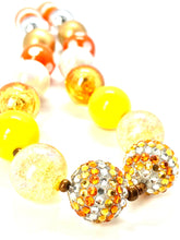 Load image into Gallery viewer, Candycorn Halloween Bubblegum Necklace, Little Girl Necklace