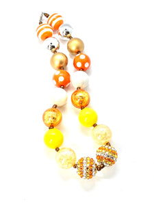 Candycorn Halloween Bubblegum Necklace, Little Girl Necklace