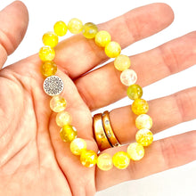 Load image into Gallery viewer, Agate Bracelet, Yellow Gemstone Bracelet, Sun Bracelet