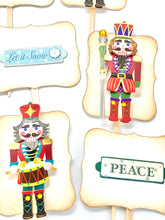 Load image into Gallery viewer, Nutcracker Cupcake Toppers, Holiday Party Decor, Nutcracker Cake Topper