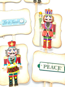Nutcracker Cupcake Toppers, Holiday Party Decor, Nutcracker Cake Topper
