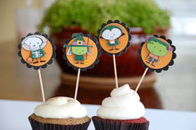 Load image into Gallery viewer, Halloween Cupcake Toppers, Kids Halloween Decor