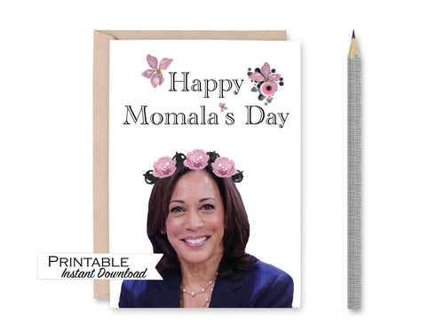Kamala Harris, Mothers Day Cards, Happy Mothers Day, Kamala Card, Mothers Day Gift