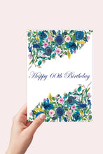 Load image into Gallery viewer, 60th Birthday Card, Floral Happy Birthday Card for Her, Printable Birthday, 60 and Fabulous, 60th Birthday Gifts for Women, Instant Download