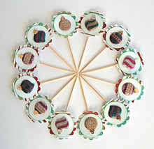 Load image into Gallery viewer, Christmas Ornament Cupcake Toppers, Christmas Decor