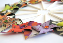Load image into Gallery viewer, Halloween Pinwheels, Halloween Cupcake Toppers, Halloween Decor
