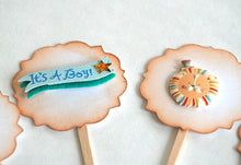 Load image into Gallery viewer, Baby Boy Cupcake Toppers, It's a Boy, Baby Shower Cupcake Toppers