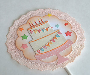 Happy Birthday Banner Cake Topper