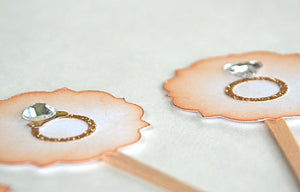 Wedding Ring Bling Bling- Cupcake Toppers/Party Sticks