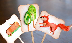 Woodland Cupcake Toppers. Woodland Party Animals Cupcake Toppers. Woodland Baby Shower Decor.
