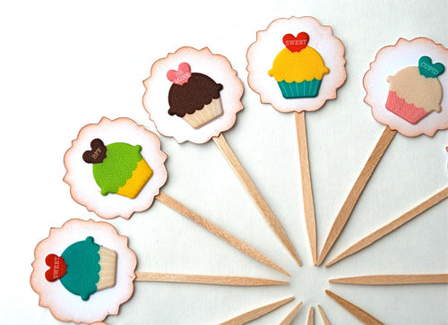 Cupcake Decor. Love Cupcake Toppers. Heart Sayings Cupcake Toppers. Valentines Day Decor. Birthday Party Decor.
