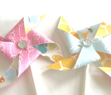 Load image into Gallery viewer, Country Drive Sequined Pinwheels - Cupcake Toppers/Party Picks