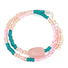 Load image into Gallery viewer, Rose Quartz Premium Japanese Seed Bead Wrap Bracelet
